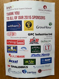 Thank poster to all our generous sponsors