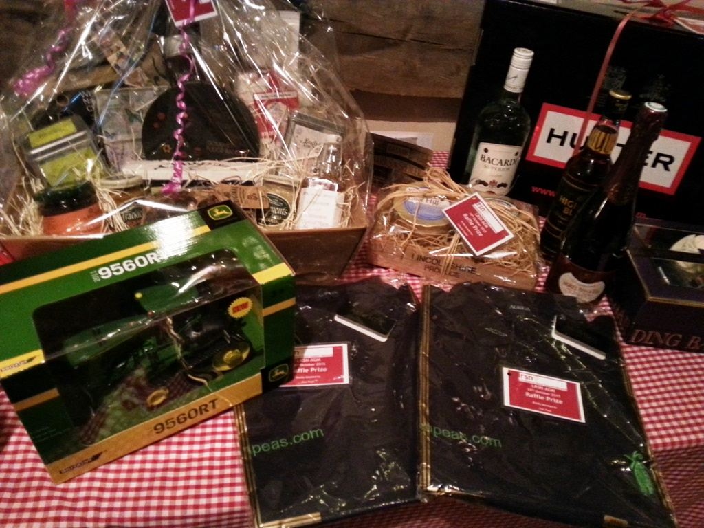 A selection of raffle prizes