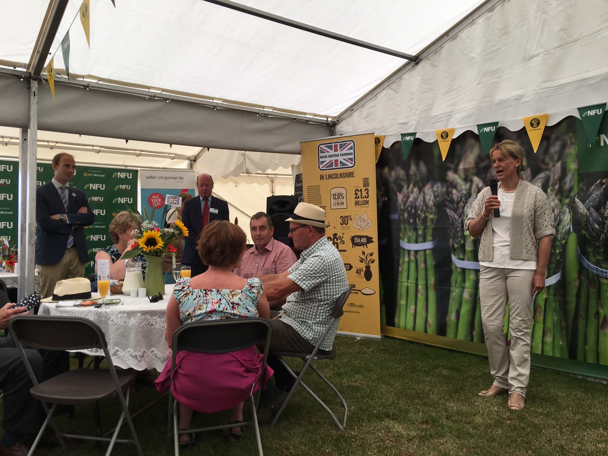 Minette Batters speaking at the NFU reception